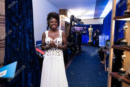 Stock Image of Viola Davis backstage during the live ABC Telecast of The 93rd Oscars® at Union Station in Los Angeles, CA on Sunday, April 25, 2021.