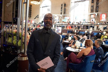 Don Cheadle presents the Oscar® for Makeup and Hairstyling during the live ABC Telecast of The 93rd Oscars® at Union Station in Los Angeles, CA on Sunday, April 25, 2021.