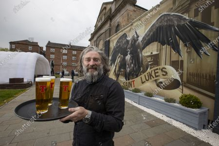 ScotlandÕs return to the pubs was one of the biggest dates in the hospitality calendar this year. As the nationÕs favourite pint,  Scots enjoying that long-awaited first pint of TennentÕs in 2021. The beer garden at St LukeÕs & The Winged Ox is booked out for opening at 12pm Michael Woods, owner of St. LukeÕs & The Winged Fox, is all set to welcome punters back to his beer garden in Glasgow from today.