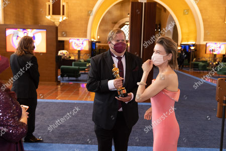 Renee Zellweger backstage during the live ABC Telecast of The 93rd Oscars at Union Station
