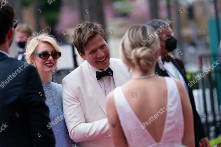 Oscar nominee Thomas Vinterberg and Helene Reingaard Neumann on the red carpet of The 93rd Oscars at Union Station