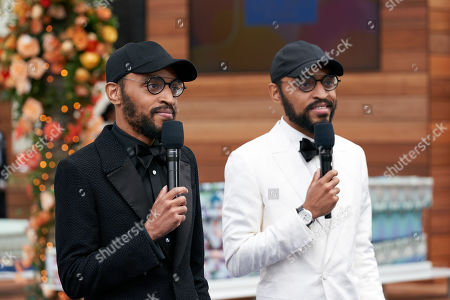 Stock Photo of Oscar nominees Keith Lucas and Kenny Lucas prior to the live ABC Telecast of The 93rd Oscars at Union Station