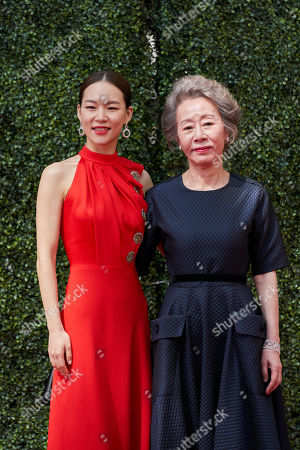 Oscar nominee Yuh-jung Youn and Han Ye-ri at the live ABC Telecast of The 93rd Oscars at Union Station