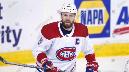 Editorial image of Canadiens Flames Hockey, Calgary, Canada - 23 Apr 2021