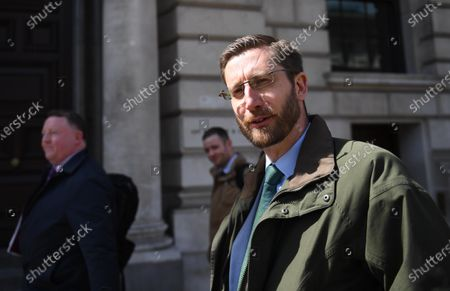 Cabinet Secretary Simon Case arrives to appear at a Commons Public Administration and Constitutional Affairs Committee (PACAC) in London, Britain, 26 April 2021. The committee's main focus is to ask questions arising from the ongoing controversy over the collapse of Greensill Capital and its links to Government including Britain's former Prime Minster David Cameron.