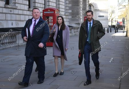 Stock Picture of Cabinet Secretary Simon Case (R) arrives to appear at a Commons Public Administration and Constitutional Affairs Committee (PACAC) in London, Britain, 26 April 2021. The committee's main focus is to ask questions arising from the ongoing controversy over the collapse of Greensill Capital and its links to Government including Britain's former Prime Minster David Cameron.