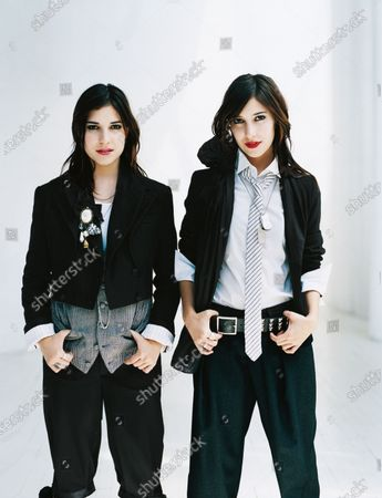 """Twin sisters Lisa and Jess Origliasso of the band """"The Veronicas.""""."""