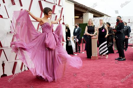 Stock Image of Halle Berry arrives on the red carpet of The 93rd Oscars® at Union Station in Los Angeles, CA on Sunday, April 25, 2021.