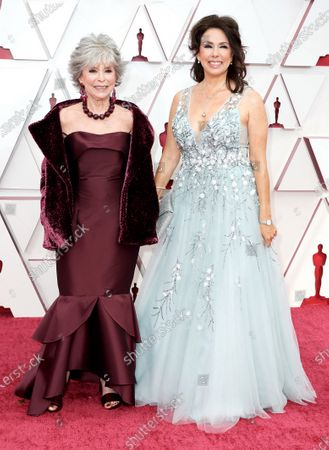 Stock Picture of Rita Moreno and Fernanda Luisa Gordon arrive on the red carpet of The 93rd Oscars® at Union Station in Los Angeles, CA on Sunday, April 25, 2021.