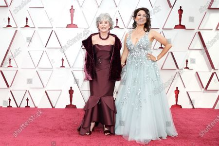 Rita Moreno and Fernanda Luisa Gordon arrive on the red carpet of The 93rd Oscars® at Union Station in Los Angeles, CA on Sunday, April 25, 2021.