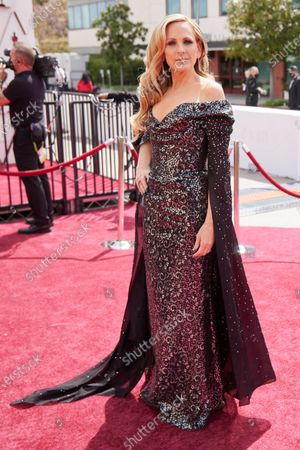Stock Photo of Marlee Matlin arrives on the red carpet of The 93rd Oscars® at Union Station in Los Angeles, CA on Sunday, April 25, 2021.