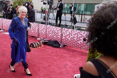 Oscar® nominees Glenn Close arrives on the red carpet of The 93rd Oscars® at Union Station in Los Angeles, CA on Sunday, April 25, 2021.