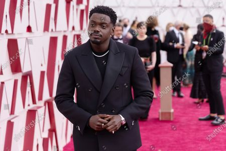 Daniel Kaluuya arrives on the red carpet of The 93rd Oscars® at Union Station in Los Angeles, CA on Sunday, April 25, 2021.