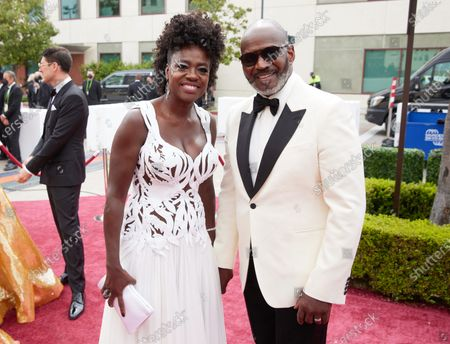 Stock Photo of Viola Davis and Julius Tennon arrive on the red carpet of The 93rd Oscars® at Union Station in Los Angeles, CA on Sunday, April 25, 2021.