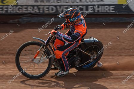 Stock Picture of New Belle Vue Colts signing Connor Coles gets some practice laps in at his new home track during the Belle Vue Experience training dayat the National Speedway Stadium, Manchester, England on 25th April 2021.