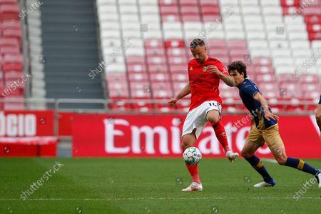 Haris Seferovic in control during the Liga NOS match between Benfica and Santa Clara at Estadio da Luz, Lisbon