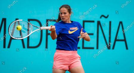 Daria Kasatkina of Russia during practice ahead of the 2021 Mutua Madrid Open WTA 1000 tournament
