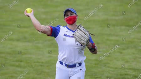 UMass-Lowell's Jennifer Lee (9) during an NCAA softball game against UMBC, in Lowell, Mass