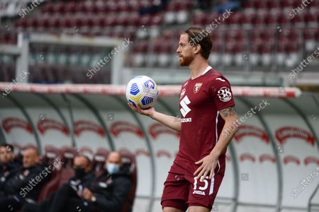 Cristian Ansaldi of Torino FC  during the Serie A football match between Torino FC and SSC Napoli. Sporting stadiums around Italy remain under strict restrictions due to the Coronavirus Pandemic as Government social distancing laws prohibit fans inside venues resulting in games being played behind closed doors.