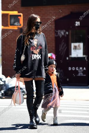 Editorial image of Irina Shayk out and about, New York, USA - 26 Apr 2021