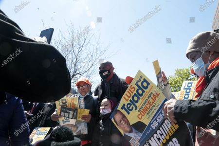 Editorial photo of New York City Mayoral Candidate Ray McGuire Campaigns, Harlem, New York, USA - 26 Apr 2021
