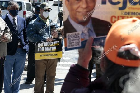 Editorial picture of New York City Mayoral Candidate Ray McGuire Campaigns, Harlem, New York, USA - 26 Apr 2021