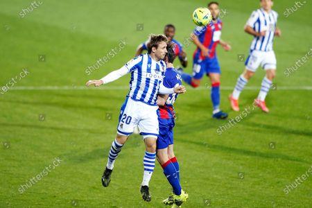 "Nacho Monreal (Sociedad) - Football / Soccer : Spanish ""La Liga Santander"" match between SD Eibar 0-1 Real Sociedad at the Estadio Municipal de Ipurua in Eibar, Spain."