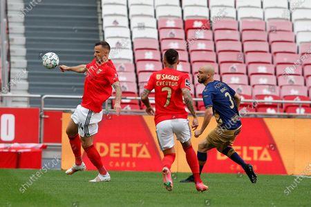 Haris Seferovic in action during the game for Liga NOS between SL Benfica and CD Santa Clara, at Estadio da Luz, Lisbon, Portugal, on 26, April 2021.