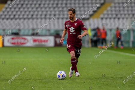 Cristian Ansaldi of Torino FC during the Serie A football match between Torino FC and SSC Napoli at Olympic Grande Torino Stadium on April 26, 2021 in Turin, Italy.