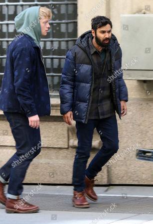 Tom Rhys Harries, Kunal Nayyar on the set of the new Apple TV+ series 'Suspicion'