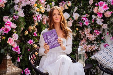 Stock Image of Millie Mackintosh is doing a special reading of Ariel from Tales of Courage & Kindness, a new storybook collection featuring 14 never-before-told Disney Princess stories to help inspire a kinder world. The storybook is being made available to families around the world for free at DisneyPrincessStories.co.uk. The stories are being dedicated to children who have exhibited extraordinary acts of courage and kindness, with other names lending their support to the initiative including Mandy Moore, Katie Piper and Kelly Marie Tran. It follows research that kindness is the most important quality parents want to teach their children.