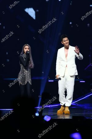 Stock Image of Jolin Tsai and Eric Chou
