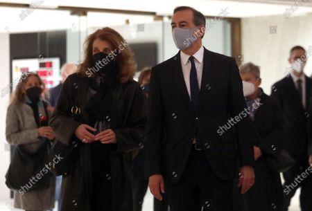 Editorial picture of People pay respect to Italian singer Milva at her funeral in Milan, Italy - 27 Apr 2021