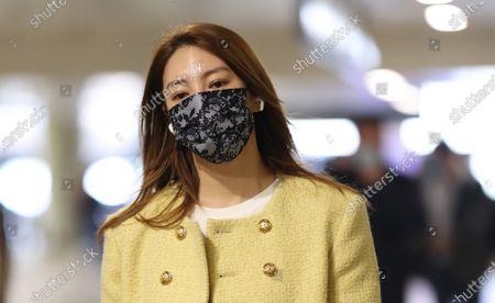 Editorial photo of Zhang Yuqi at the airport, Shanghai, China - 27 Apr 2021