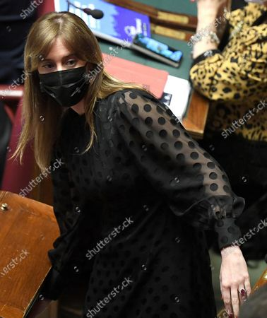 Deputy of 'Italia Viva (IV)' party, Maria Elena Boschi, during the debate on Recovery Plan at the Chamber of Deputies in Rome, Italy, 27 April 2021.