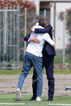 Head coach Milan Maurizio Ganz, Head coach Inter Attilio Sorbi during the match