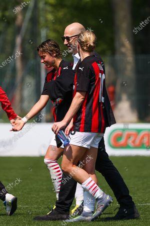 Valentina Giacinti (Milan), Ceo Milan Ivan Gazidis and Natasha Dowie (Milan)
