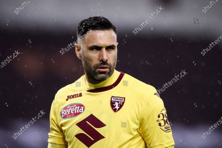 Torino goalkeeper Salvatore Sirigu (39) looks on during the Serie A football match n.33 TORINO - NAPOLI on April 26, 2021 at the Stadio Olimpico Grande Torino in Turin, Piedmont, Italy. Final result: Torino-Napoli 0-2. Sporting stadiums around Italy remain under strict restrictions due to the Coronavirus Pandemic as Government social distancing laws prohibit fans inside venues resulting in games being played behind closed doors.