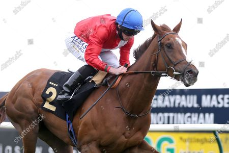LIGHTS ON (2) ridden by Ryan Moore and trained by Sir Michael Stoute winning The Class 3 British Stallion Studs EBF Fillies Handicap over 1m during the meeting at Nottingham Racecourse, Nottingham
