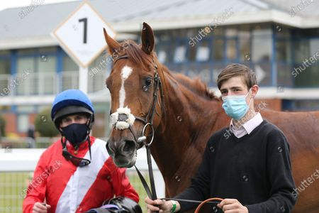 LIGHTS ON (2) ridden by Ryan Moore and trained by Sir Michael Stoute after winning The Class 3 British Stallion Studs EBF Fillies Handicap over 1m during the meeting at Nottingham Racecourse, Nottingham