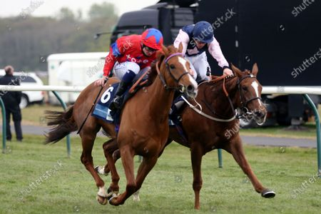 LA LUNE (6) ridden by David Probert and trained by Henry Candy winning The Listed British EBF Supporting Racing To School Nottinghamshire Oaks Stakes (Fillies & Mares) over 1m 2f  during the meeting at Nottingham Racecourse, Nottingham