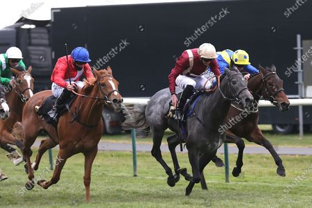 ROMAN MIST (5) ridden by James Doyle and trained by Tom Ward winning The Follow @racingtv On Twitter Fillies Handicap over 1m during the meeting at Nottingham Racecourse, Nottingham