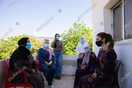 Editorial image of Queen Rania visit to Al Yusra Women Charity Society, Madaba, Jordan - 27 Apr 2021