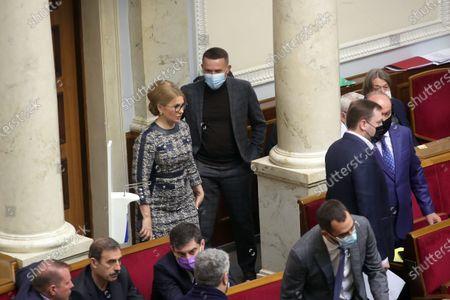 Stock Picture of Batkivshchyna faction leader, MP Yulia Tymoshenko attends a sitting of the Ukrainian parliament, Kyiv, capital of Ukraine.