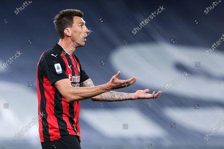 Mario Mandzukic (Milan) during the match