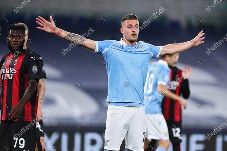 Sergej Milinkovic Savic (Lazio) during the match