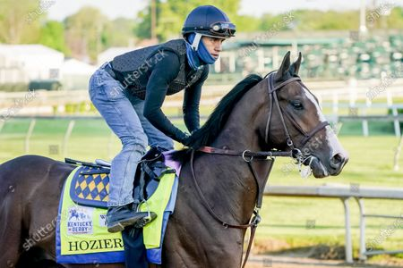 Hozier exercises in preparation for the Kentucky Derby at Churchill Downs on , in Louisville, Kentucky.