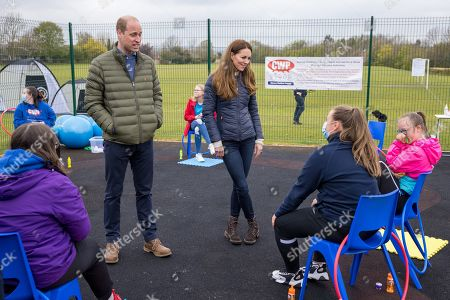 Prince William and Catherine Duchess of Cambridge meet young people supported by the Cheesy Waffles Project, a charity for children, young people and adults with additional needs across County Durham, at the Belmont Community Centre.  The Duke and Duchess heard about the support given to the CWP by The Key, which was one of the charities chosen by Their Royal Highnesses in 2011 to benefit from donations made to their Royal Wedding Charitable Gift Fund.