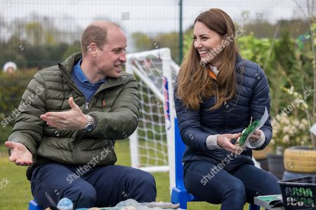 Editorial photo of Prince William and Catherine Duchess of Cambridge visit to the Cheesy Waffles Project, Durham, UK - 27 Apr 2021
