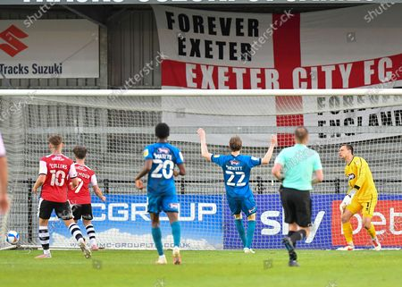 Editorial picture of Exeter City v Grimsby Town FC, EFL Sky Bet League 2 - 27 Apr 2021